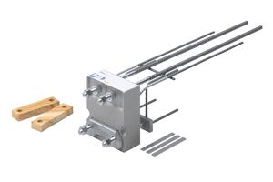 Isokorb for utkragede konstruksjoner